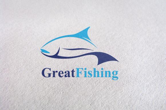 Fishing / Fish Brand Logo template by Design Studio Pro on Creative Market