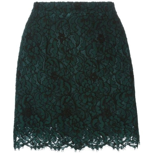 Dolce & Gabbana floral lace skirt (2.995.435 COP) ❤ liked on Polyvore featuring skirts, mini skirts, dolce & gabbana, green, short green skirt, short miniskirt, scalloped lace mini skirt, lace mini skirt and layered lace skirt