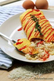 DELICI-OWH-SO: Omu-rice (Omelette Fried Rice)