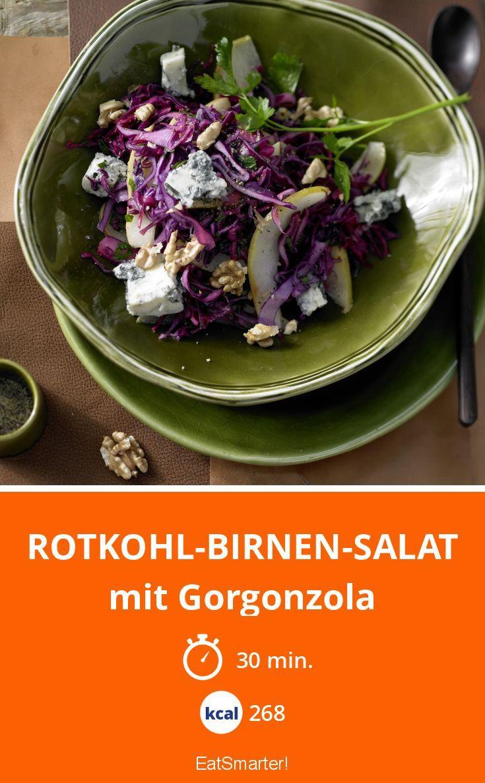 Rotkohl-Birnen-Salat | Die Vitaminbombe passt perfekt zur kalten Jahreszeit. Rotkohl stärkt das Immunsystem und wirkt entzündungshemmend. Birnen fördern durch Ballaststoffe die Verdauung.