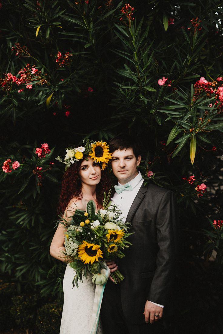 Tuggeranong Homestead Wedding   Canberra Wedding Photographer     Sunflower Bouquet