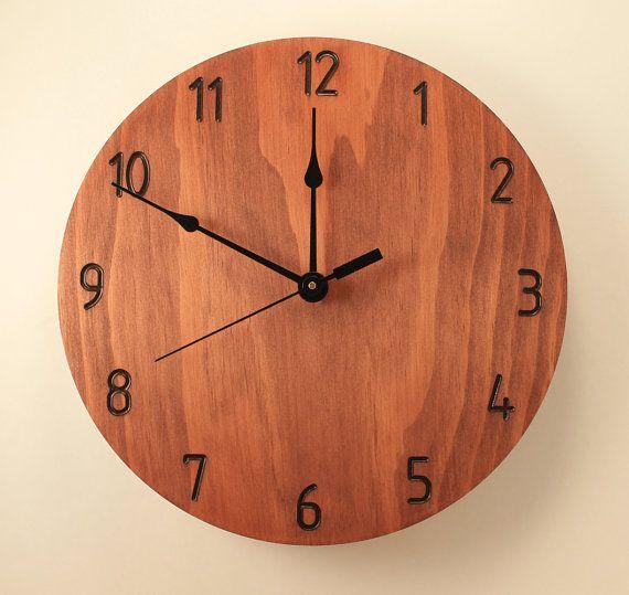 Hogar decoración oficina reloj plano por BunBunWoodworking en Etsy