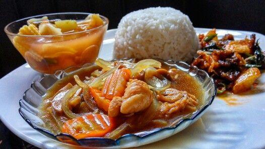 Blackpepper Chicken rice