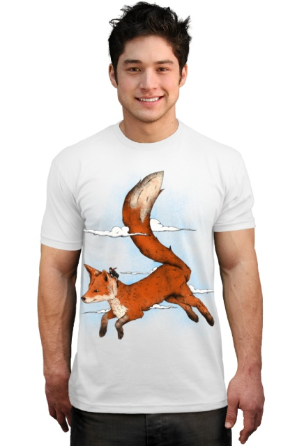 Riding the great red fox T-Shirt