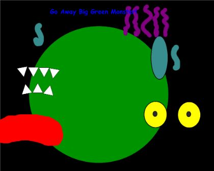 Smart Board Activity - This activity is designed to go along with the book Go Away Big Green Monster. It is meant to be used like a felt board activity. Retell the story by moving the pieces on the board.