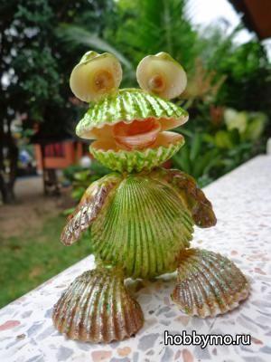 Поделки из ракушек: лягушки, детские поделки