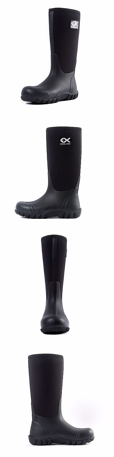 Boots and Shoes 179980: Duck And Fish Buck Man 16 Black Fishing Hunting Neoprene Rubber Farm Knee Boot -> BUY IT NOW ONLY: $49.9 on eBay!