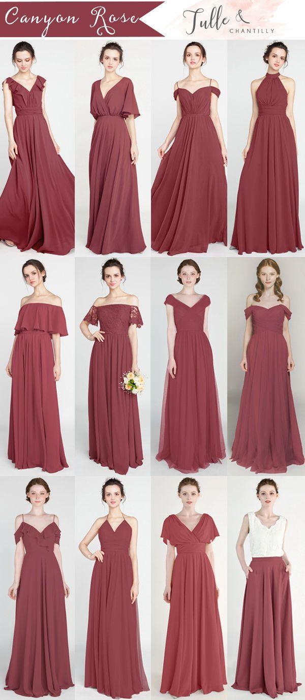 728249e89a61 canyon rose bridesmaid dresses 2019 #wedding #weddinginspiration # bridesmaids #bridesmaiddress #bridalparty #maidofhonor #weddingideas  #weddingcolors # ...