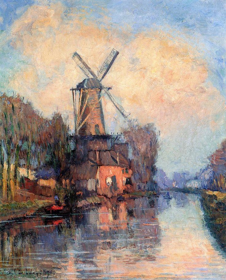 Albert Lebourg - Windmill on the Meuse, Holland