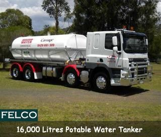 #Felco as a Dan Cross Transport Qld - 16.000 litre #potable #water #tanker. http://goo.gl/15Pbn1