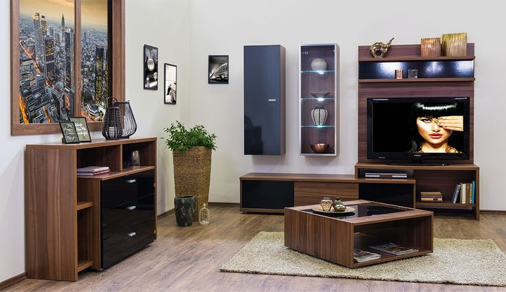 Bling - modern nappali dijoni dió - fényes fekete színben.