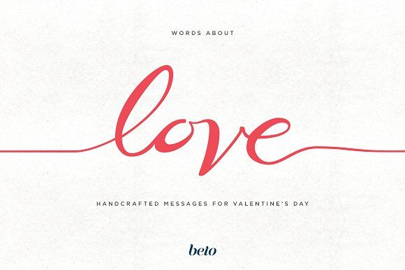 Words about Love by beto on @creativemarket