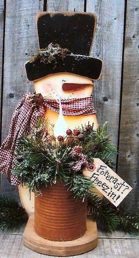 Wood Forecast Freez'in Snowman #snowman #christmas #christmasdecor #christmasideas