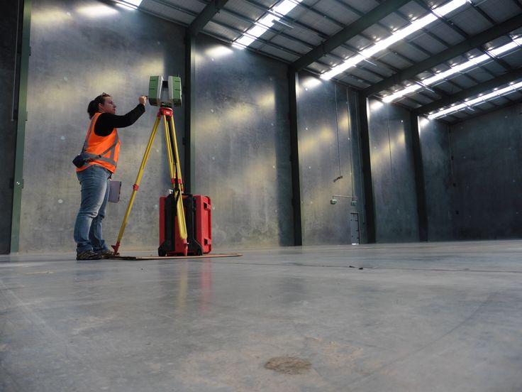 Slab survey using 3D Laser Scanner www.woodslaserscanning.co.nz