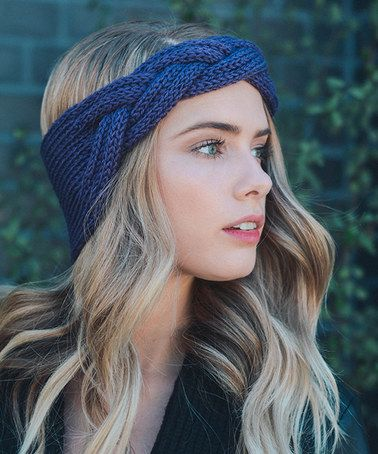 Another great find on #zulily! Purple Knit Braid Headband #zulilyfinds