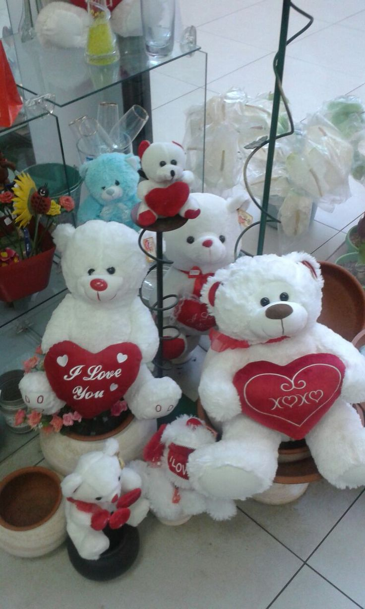 Soft Teddy Bears for your special Valentine.