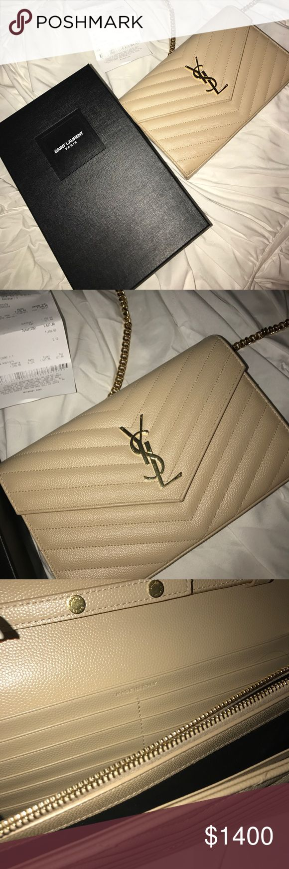 YSL clutch Nude in great condition! Saint Laurent Bags Crossbody Bags
