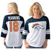 Peyton Manning Denver Broncos G-III Sports by Carl Banks Women's Play Action Mesh Name