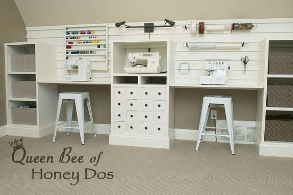 $8 Wall Storage System - Slat Wall Look Without the Slat Wall Price - great for organizing a craft room