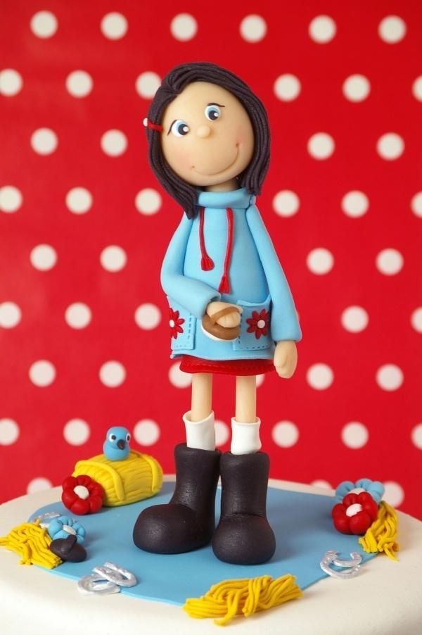 Girl cake topper.