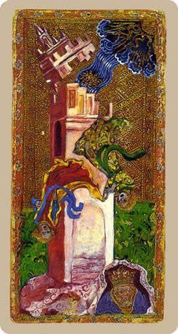 Cary-Yale Visconti Tarot - The Tower