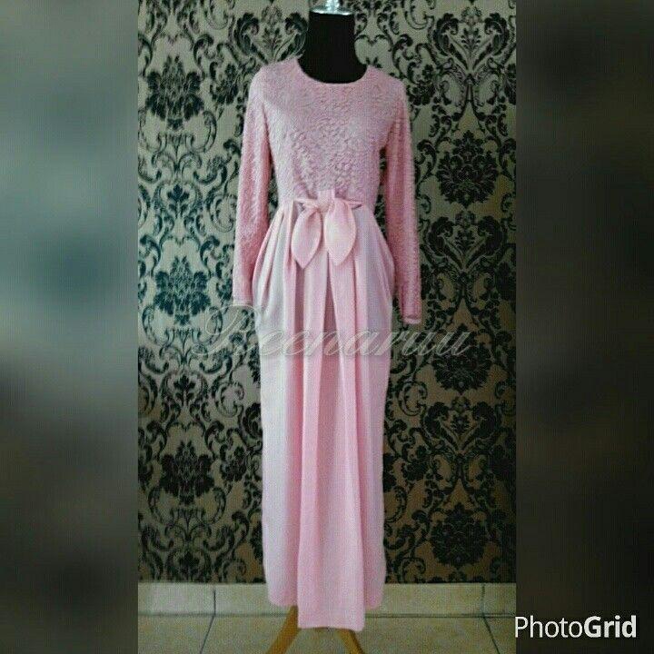 Reenaruu customer's dress.stretch lace combined with silky satin.