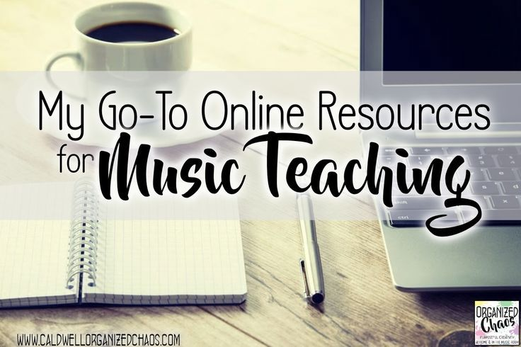 My Go-To Online Resources for Music Teaching. Organized Chaos. The best online (free) resources to make music teaching a little easier! Searchable indexes for rhythm and pitch concepts, world music indexes by country, music notation and technology resourc