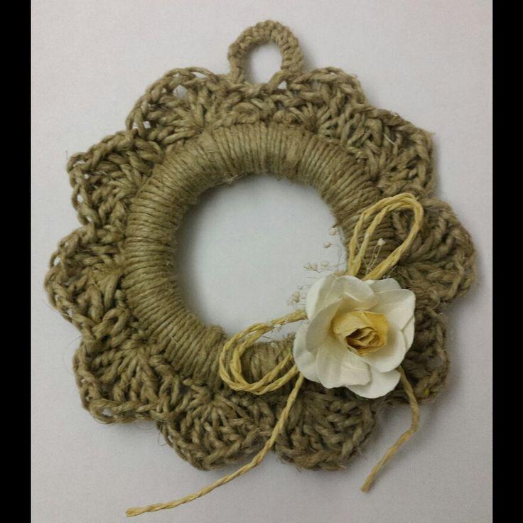 un anneau de rideau crochet avec ficelle anneaux de rideaux pinterest. Black Bedroom Furniture Sets. Home Design Ideas