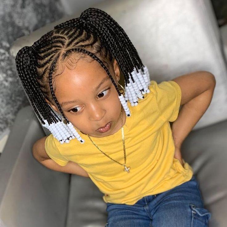 kids 2 ponytail braids