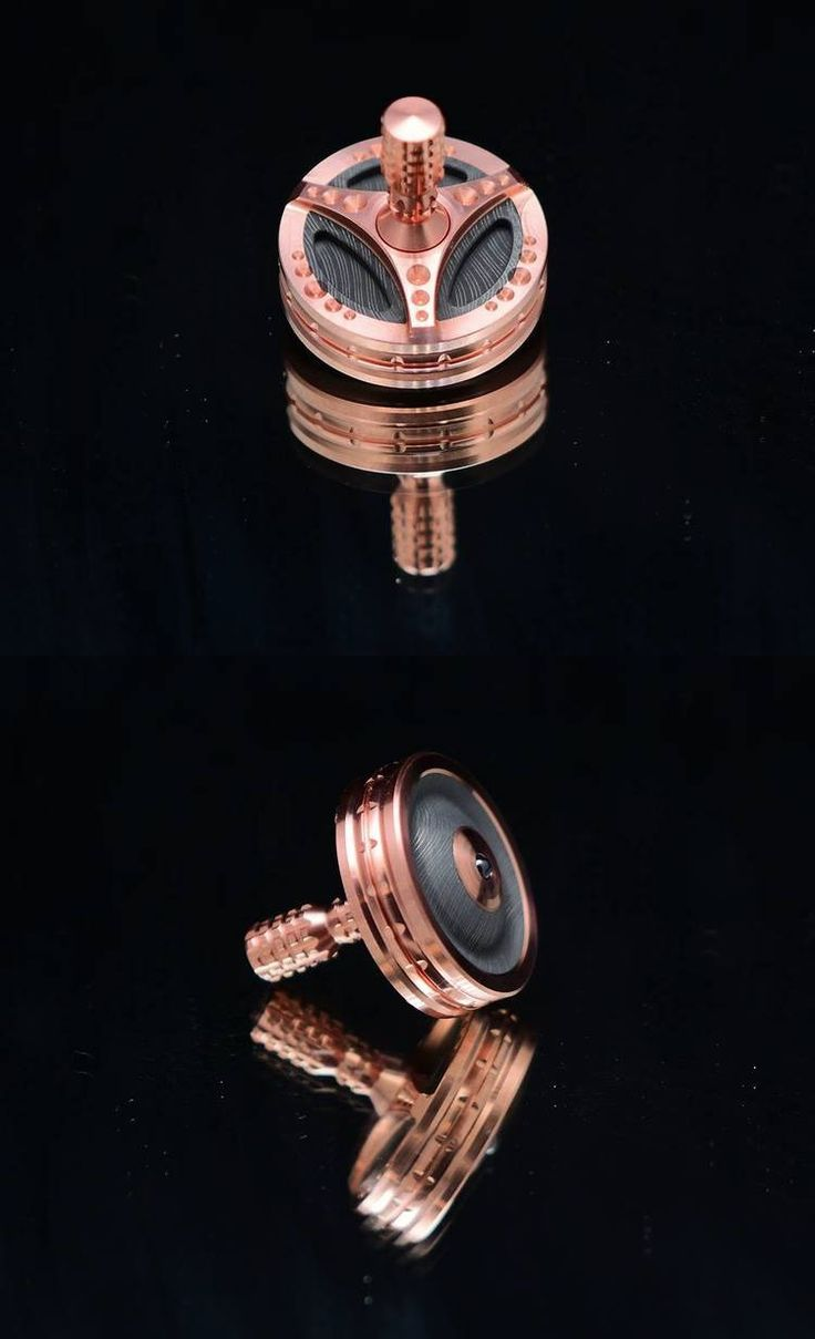 BilletSPIN Trident, Copper over Twist Damascus over Copper