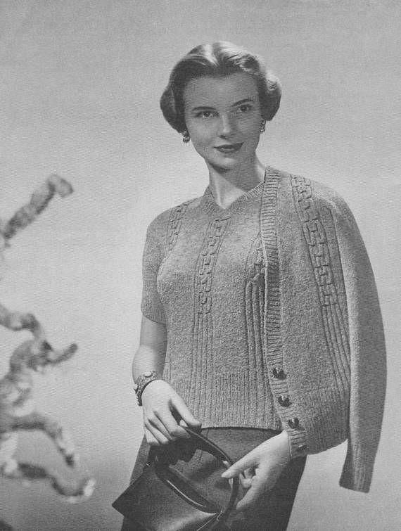 1940s Classic Smocked Cardigan