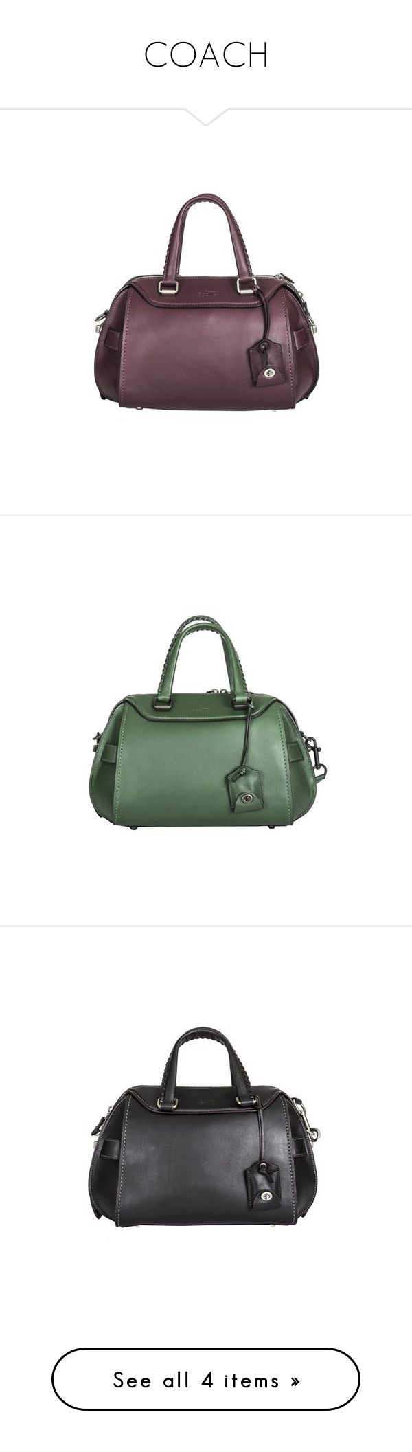 """COACH"" by dlrluxuryboutique ❤ liked on Polyvore featuring bags, handbags, shoulder bags, burgundy purse, coach handbags, coach shoulder bag, purple shoulder bag, purple leather handbag, green and real leather purses"