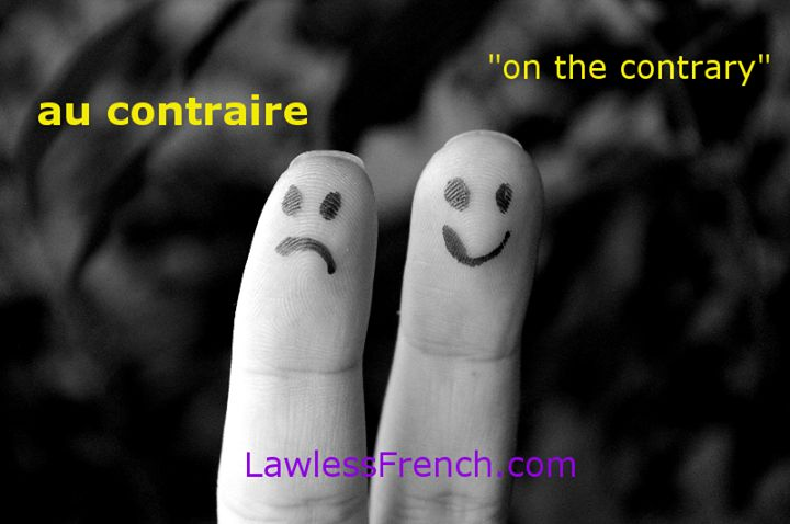"Learn about the French expression ""au contraire"" - https://www.lawlessfrench.com/expressions/au-contraire/"