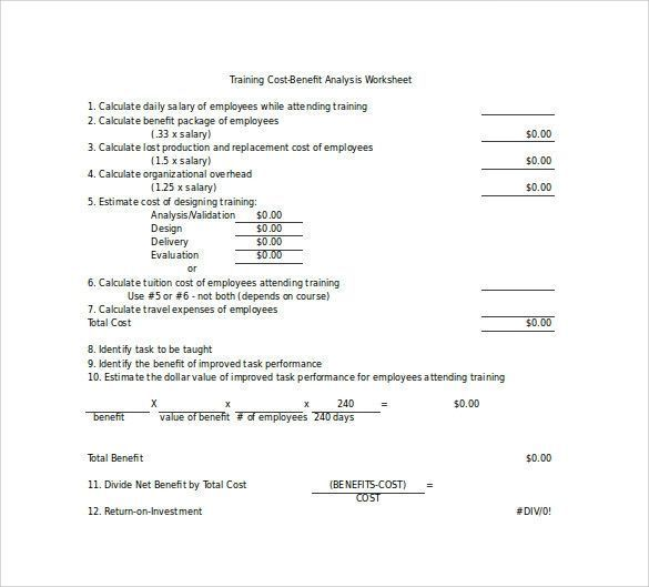 Cost Benefit Analysis Template Excel Proper 18 Cost Benefit
