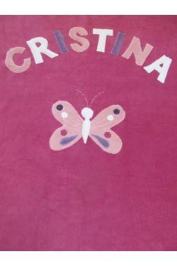 Pillangós névre szóló takaró