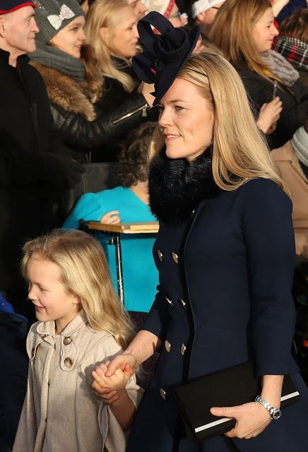 Autumn Phillips - the wife of Peter Phillips, the oldest grandchild of Queen, with her daughter Savannah