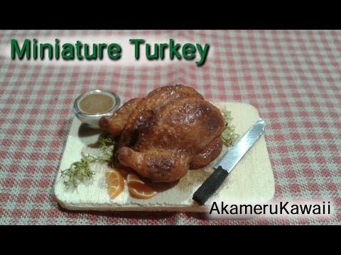 Miniature Polymer Clay Turkey Tutorial - Creating Dollhouse Miniatures