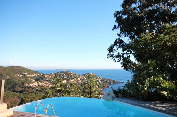 Amazing sea views from Villa Seagull in Le Trayas, France.