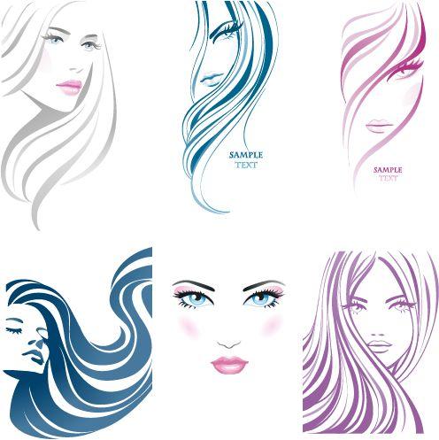 rostros de mujer en trazos