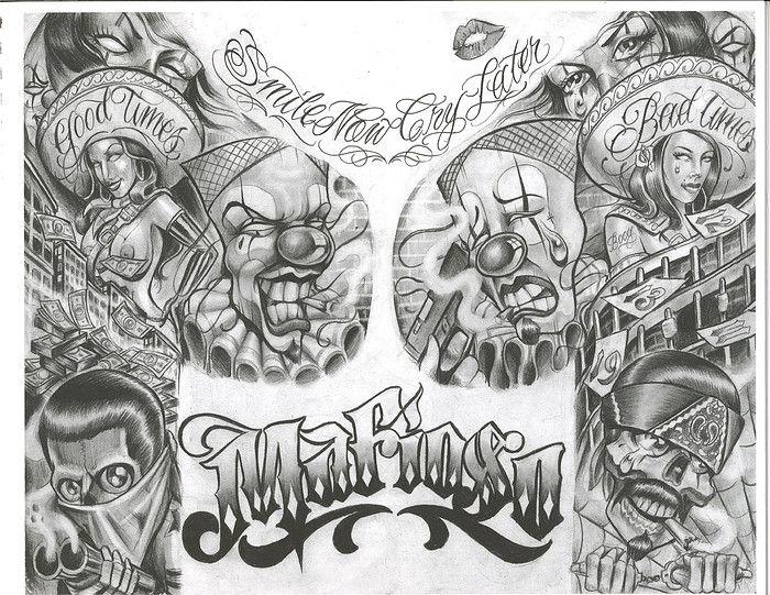 Chicano+Art+Tattoos | chicano art flash - Dragon-Tattoo Hamburg
