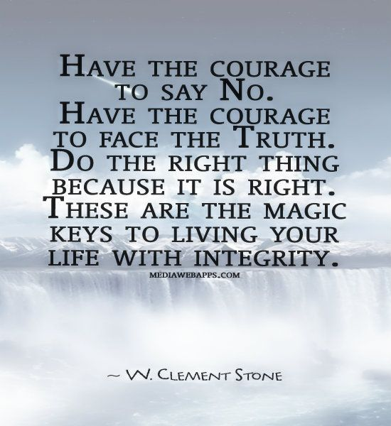 Truth allows you to live with integrity. Everything you do and say shows the world who you really are. Let it be the Truth - Oprah Winfrey