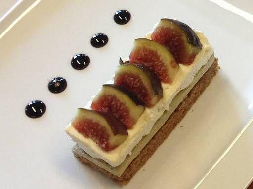 pain d'épice, oeuf, figue, vinaigre balsamique, chutney, foie gras, piment d'espelette, mascarpone, sel, miel, Banyuls