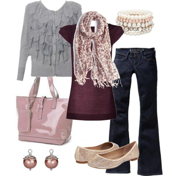 dusty pink, created by #htotheb on polyvore.com