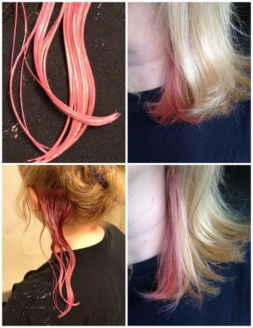 Pink peekaboo hair   Being Spiffy