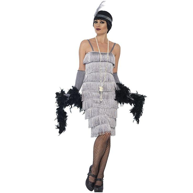 Sølv flapper kostyme til dame | Festmagasinet Standard