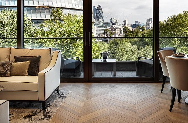 Chevron installation of Hench wood flooring from Havwoods