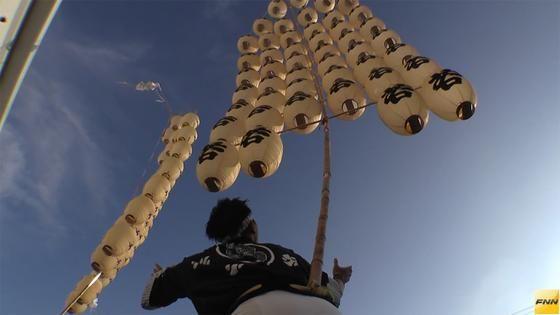 """みんなのふるさと、夏の夜空を彩る! 秋田の祭「竿燈」。 Minna no furusato, natsu no yozora o irodoru! Akita matsuri """"kantō"""". Kampung halaman semua, menghiasi langit malam musim panas! Festival """"Kanto"""" di Akita. http://www.fnn-news.com/news/headlines/articles/CONN00332317.html"""