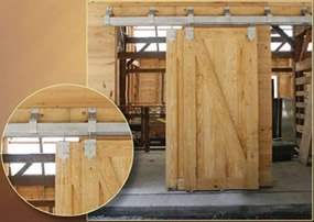 2nd Floor Laundry Room Barn Doors, Hardware will be in black and doors can be white or colored.