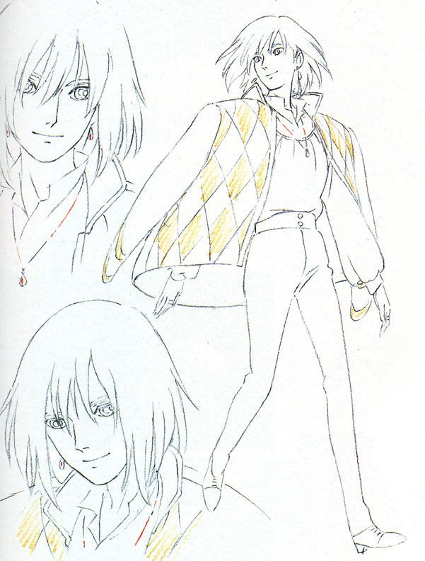 Character Design Anime Studio Story : Living lines library ハウルの動く城 howl s moving castle
