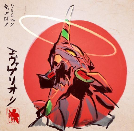 Poster A3 Neon Genesis Evangelion EVA Asuka Manga Anime Cartel Decor Impresion